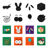 Children's toy black,flet icons in set collection for design. Game and bauble vector symbol stock web illustration.