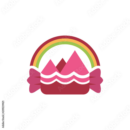 Sticker Sweet Candy with Rainbow Imagination