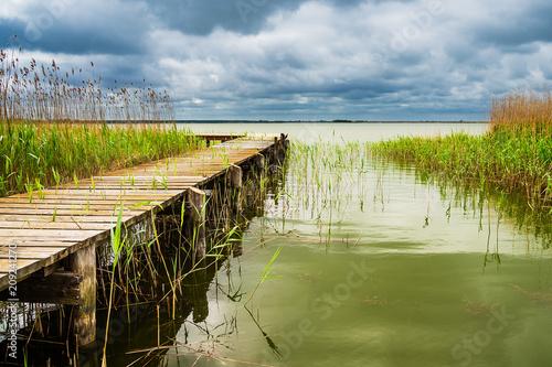 Steg am Bodden auf dem Fischland-Darß