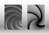 Set of abstract patterns with distorted lines.