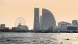 modern buildings in Yokohama bay, view from the sea - 209246465