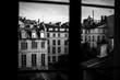 Paris building through the window