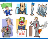 set of politics and politician cartoon concepts - 209256481