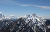 panoramic view of mountains in winter