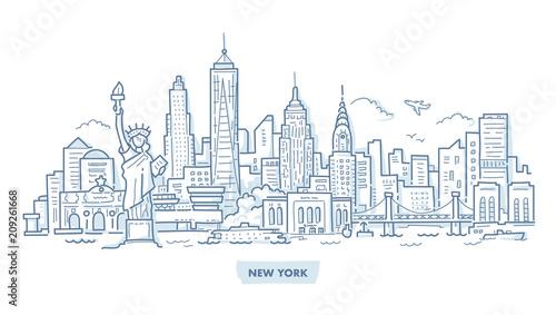 New York Cityscape Doodle