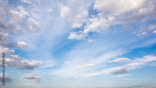 Wonderful blue sky with clouds for background