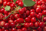 the background from fresh red cherries