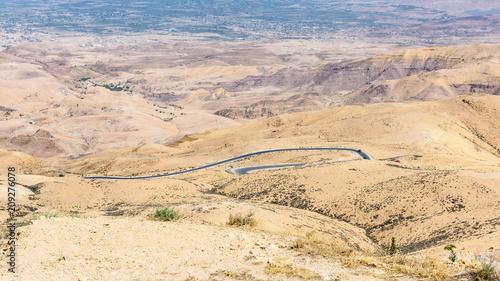 Fotobehang Beige Giordania, Monte Nebo, memoriale di Mose