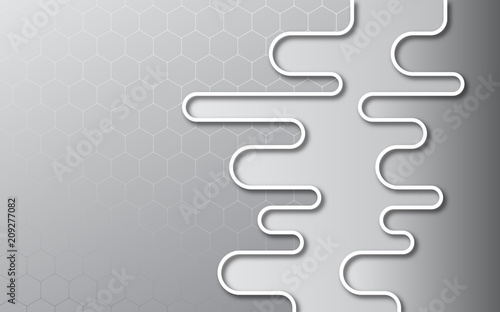 Canvas Abstractie Art Grey abstract background