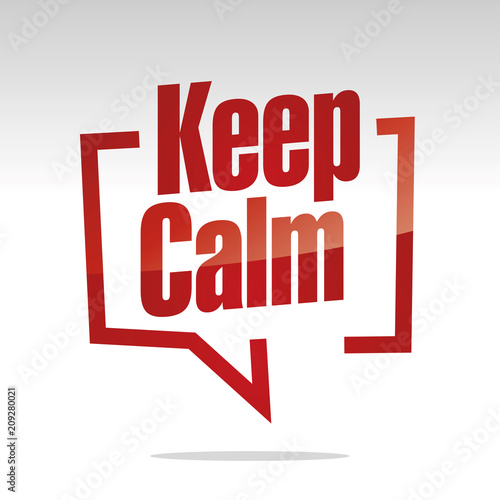 Keep Calm in brackets white red isolated sticker icon