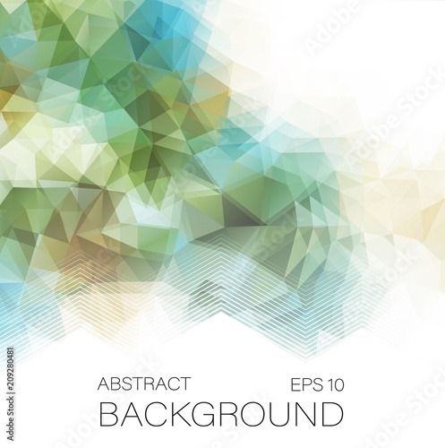 Aluminium Geometrische Achtergrond Abstract 2D geometric colorful background