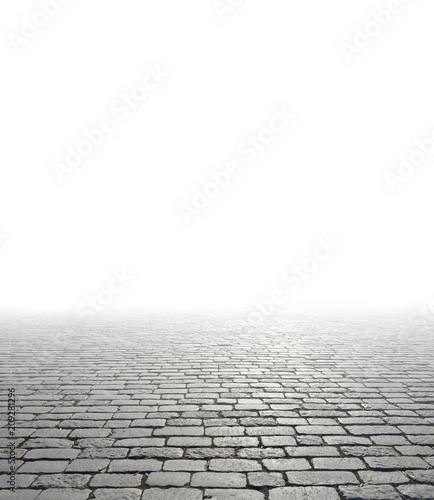 Old cobblestone pavement. - 209281296