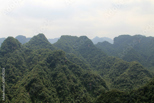 Aluminium Grijs Mountain scenery in hunan, China