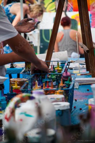 Ocean Beach Street Fair Chili Cook-Off Mural