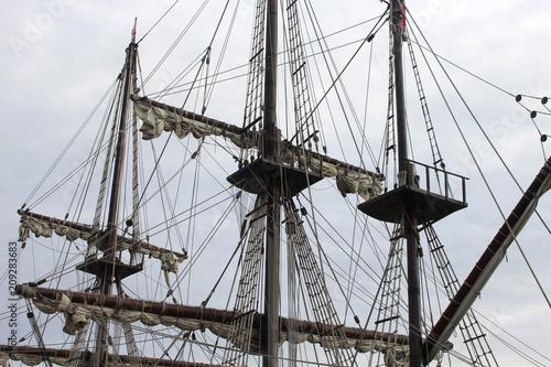 Fototapeta Old pirate ship photo