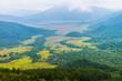 尾瀬ヶ原の大湿原の眺望