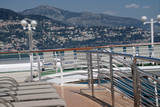 Deck of a cruise ship anchored in the harbor of Monte Carlo - 209290245