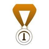 First place medal vector illustration graphic design - 209291647