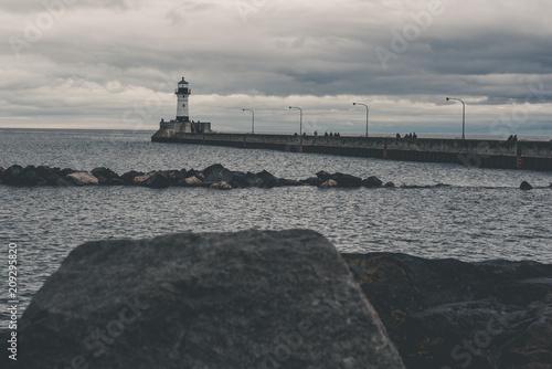Fotobehang Vuurtoren Lighthouse in Canal Park