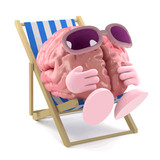 Vector 3d Sunbathing brain - 209300871