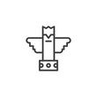 Eagle totem outline icon. linear style sign for mobile concept and web design. ancient totem simple line vector icon. Symbol, logo illustration. Pixel perfect vector graphics
