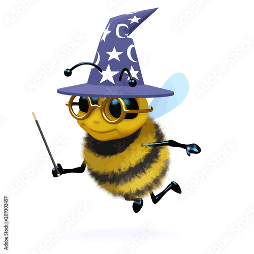 Vector 3d Wizard bee