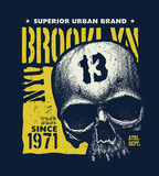 vintage urban typography vector illustration - 209303256