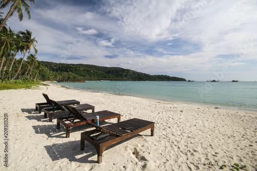 Fotobehang Beige Kood island, Koh Kood, Trat, Thailand