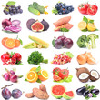 Fruits and vegetables on a white background - 209307655