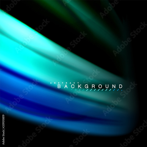 Fluid mixing colors vector wave abstract background design. Colorful mesh waves - 209310819