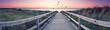Leinwanddruck Bild - romantisches Strandpanorama