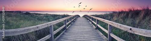 Leinwanddruck Bild romantisches Strandpanorama