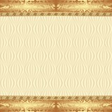 Vintage background with golden ornaments - 209324260
