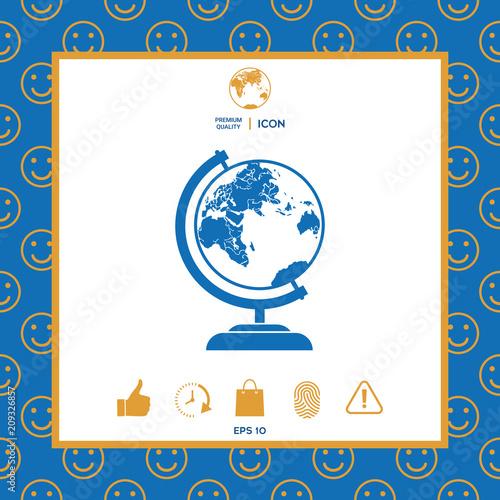 Fototapeta Globe symbol icon