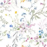 Watercolor floral vector pattern - 209332011