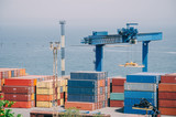 Industrial landscape of Odessa sea port - 209345623