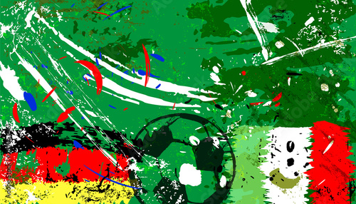 Aluminium Abstract met Penseelstreken abstact background, with soccer/football,germany vs, mexico, grungy style