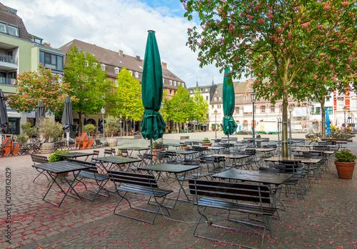 Leinwanddruck Bild City center of Koblenz - the beautiful town near Frankfurt