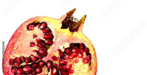 Granatapfel geschnitten Nahaufnahme / close up