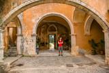 May 2013: the monastery of Agia Triada of Tsagaroli in the Chania region on the island of Crete, Greece. - 209365811