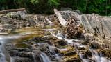 Trues Brook - Log over Cascades