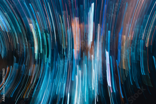 Blurred abstract bokeh background of the city at night - 209378663
