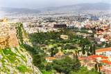 Ancient Agora Greek Neighborhoods From Acropolis Athens Greece - 209384448