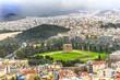 Ancient Temple Zeus Greek Neighborhoods From Acropolis Athens Greece