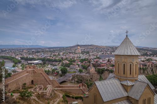 Fototapeta View of Tbilisi, the capital of Georgia