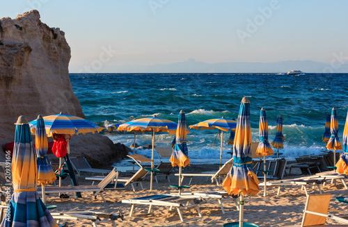 Foto Murales Tropea beach, Calabria, Italy