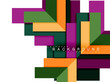 Multicolored abstract geometric shapes, geometry background for web banner - 209394617
