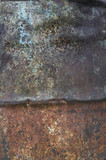 Texture of an old metallic rusted surface. - 209394838