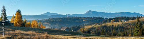 Autumn Carpathian village, Ukraine. - 209396232