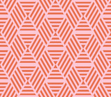 Striped abstract seamless background with rhombuses. Infinity geometric pattern. Vector illustration. - 209396647